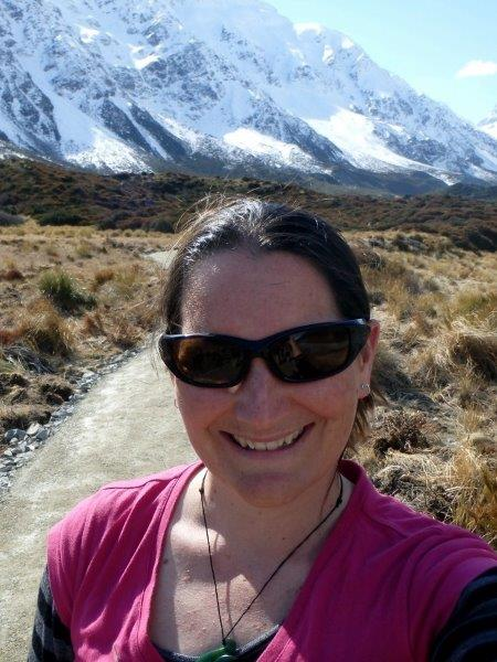 Sonya at Mt. Cook